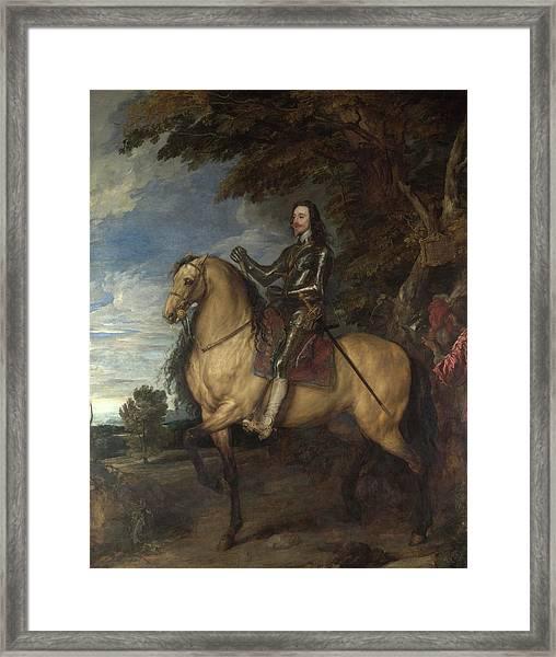 Equestrian Portrait Of Charles I Framed Print