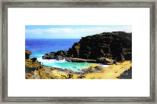 Eternity Beach - Oahu, Hawaii Framed Print by D Davila