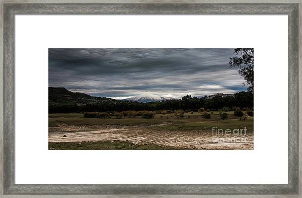 Etna, The West Side Framed Print