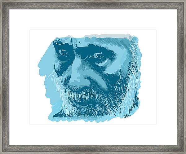 Framed Print featuring the digital art Eyes by Antonio Romero