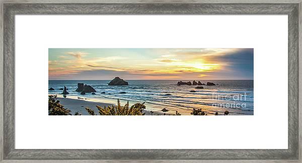 Face Rock At Sunset Framed Print