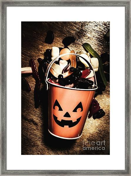 Fall Of Halloween Framed Print