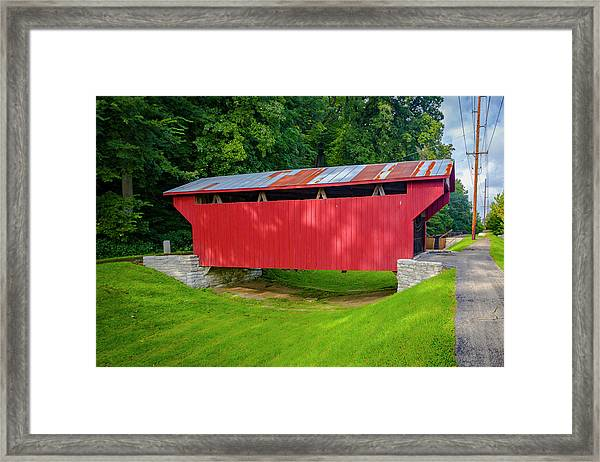 Feedwire Covered Bridge - Carillon Park Dayton Ohio Framed Print