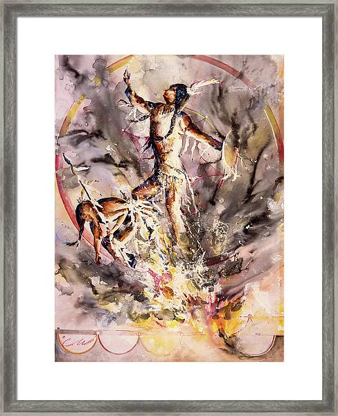 Fire Dance Large Framed Print