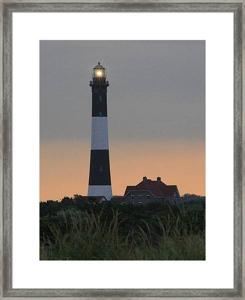 Fire Island Flash Framed Print