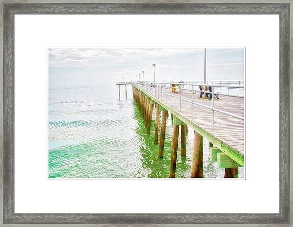 Fishing Pier, Margate, New Jersey Framed Print