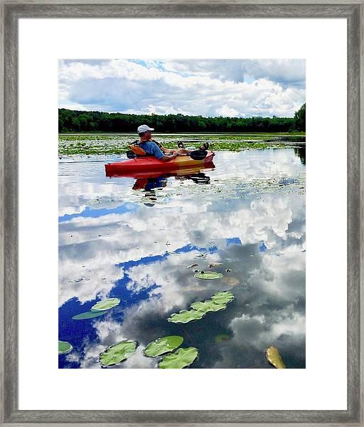 Floating In The Sky Framed Print