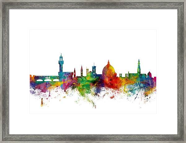 Florence Italy Skyline Framed Print