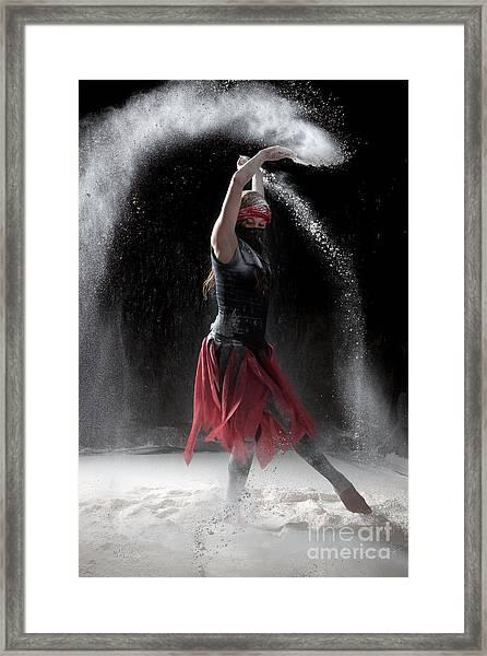Flour Dancing Series Framed Print