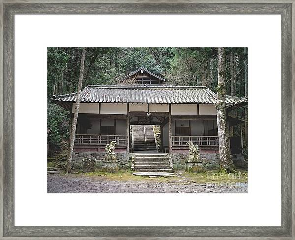 Forrest Shrine, Japan Framed Print