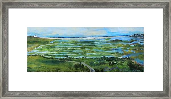 Fort Hill Panorama Framed Print