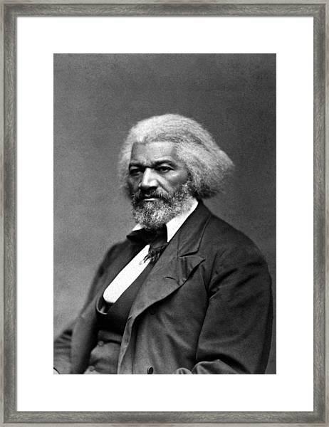 Frederick Douglass Photo Framed Print