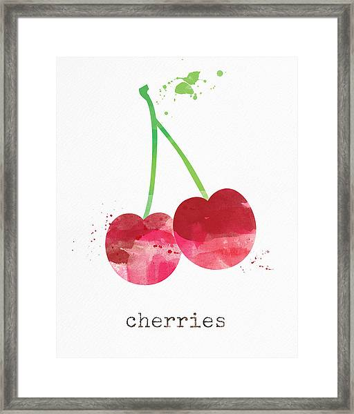 Fresh Cherries Framed Print