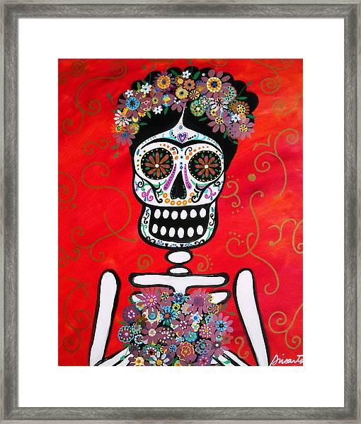 Frida Dia De Los Muertos Framed Print