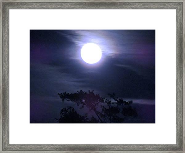 Full Moon Falling Framed Print