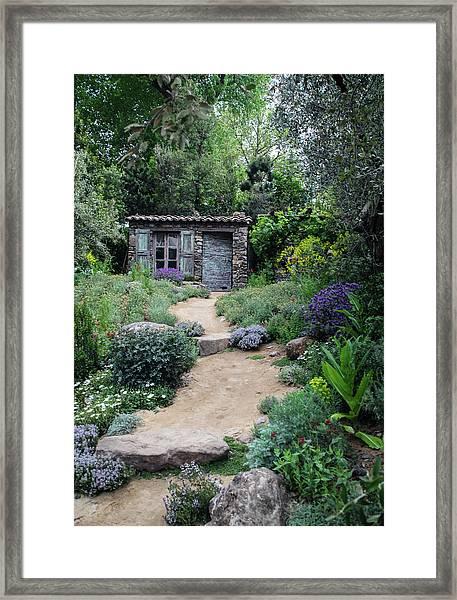 Garden Cottage Framed Print
