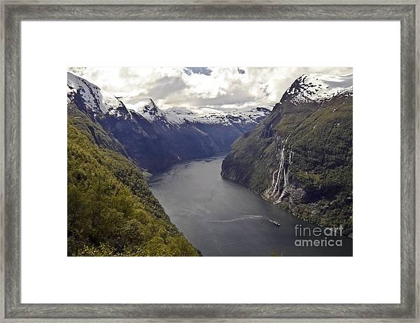 Geiranger Fjord Framed Print