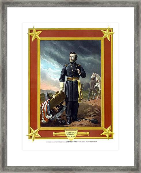 General Us Grant Framed Print
