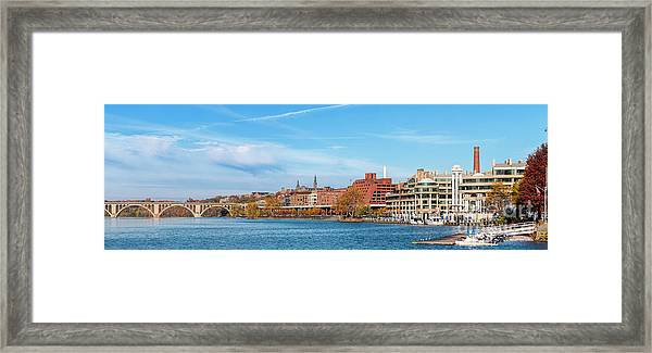 Georgetown Waterfront Early On A Fall Morning Cm3 Framed Print