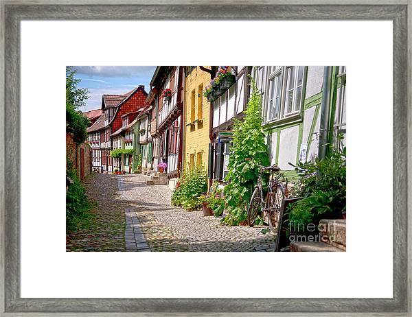 German Old Village Quedlinburg Framed Print