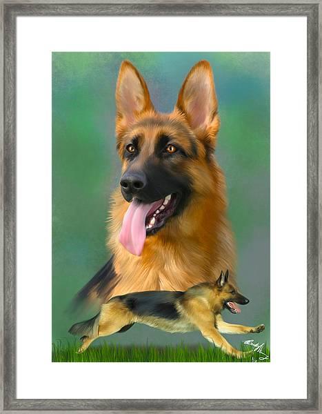 German Shepherd Breed Art Framed Print