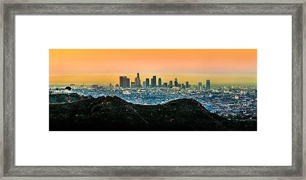 Golden California Sunrise Framed Print