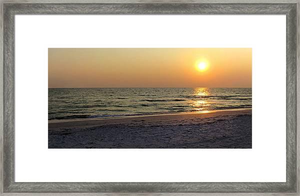 Golden Setting Sun Framed Print