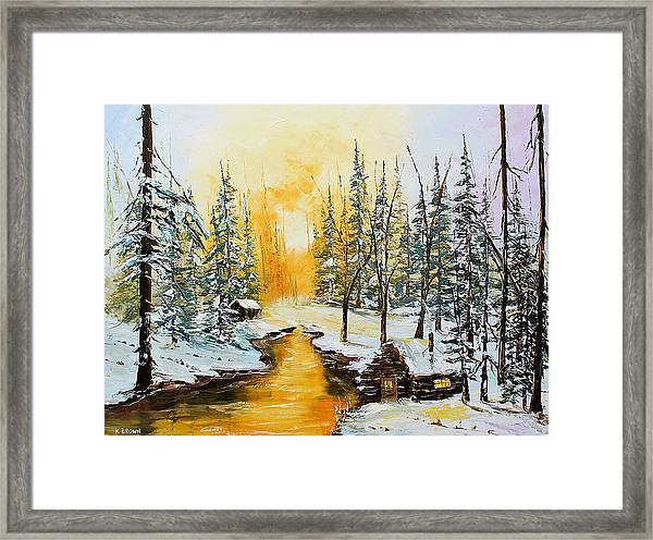 Golden Winter Framed Print