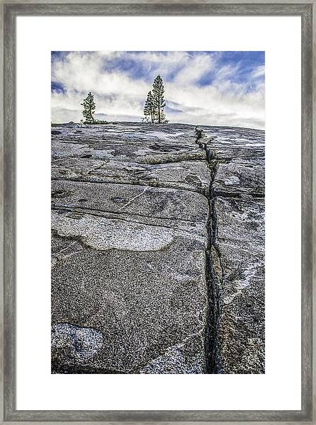 Granite Expanse Framed Print