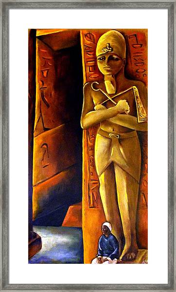 Guardian Of The Tomb Framed Print by Carmen Cordova