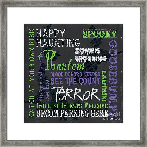 Happy Haunting Framed Print