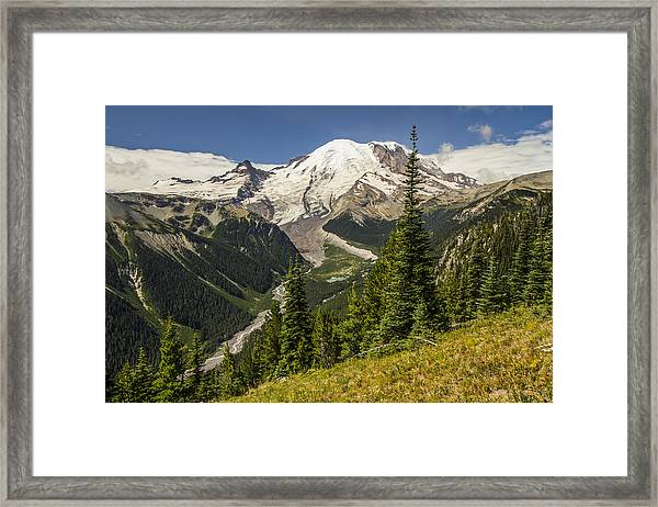 Holding Back The Clouds Framed Print