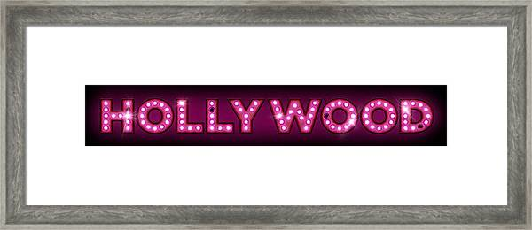 Hollywood In Lights Framed Print