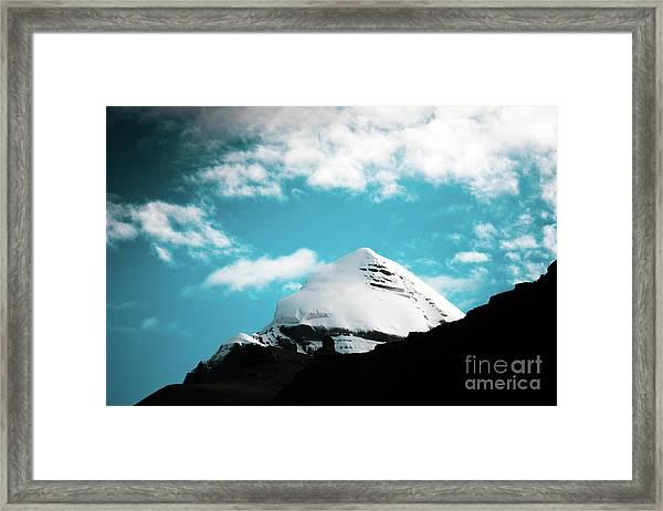 Holy Kailas Himalayas Mountain Tibet Yantra.lv Framed Print