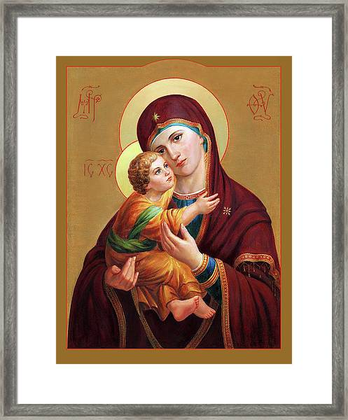 Holy Mother Of God - Blessed Virgin Mary Framed Print