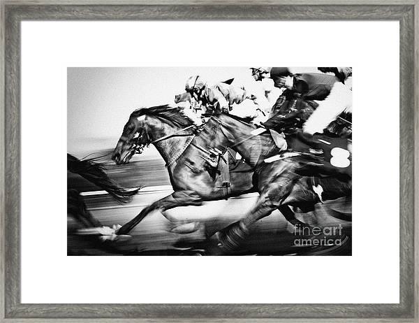 Horse Racing Framed Print