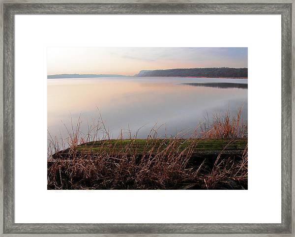 Hudson River Vista Framed Print