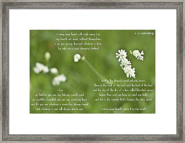 I Carry Your Heart Framed Print