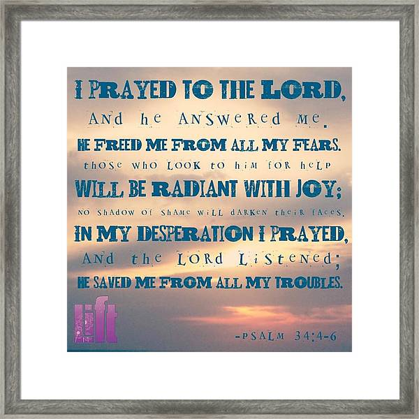 I Will Praise The Lord At All Times.  I Framed Print