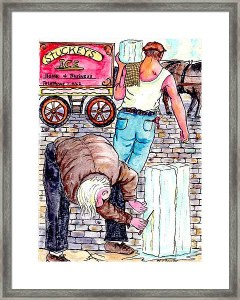 Ice Delivery Framed Print