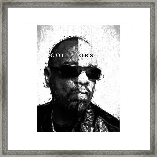 Ice-t Colors The Ganga Of La Will Never Framed Print
