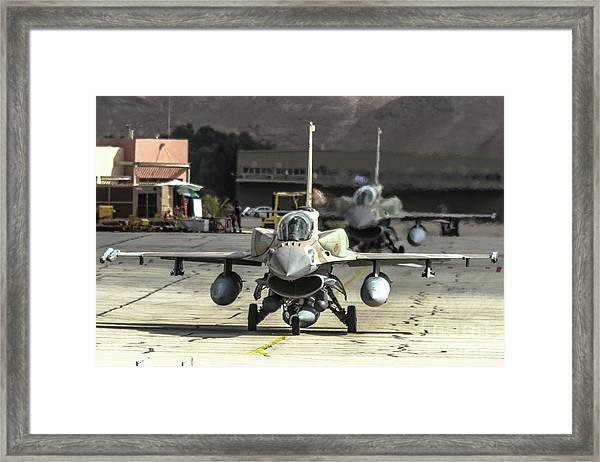 Idf/af F-16i Sufa - Blue Flag 2017 Framed Print
