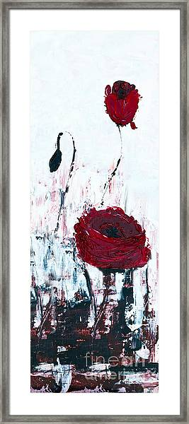 Framed Print featuring the painting Impressionist Floral B8516 by Mas Art Studio