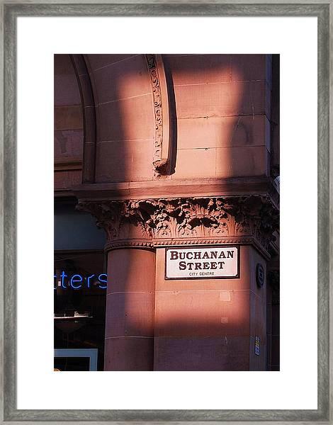 In Glasgow Framed Print