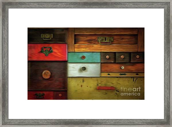 In Utter Secrecy - Various Drawers Framed Print