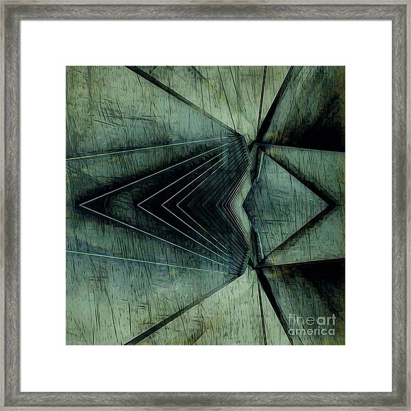 Industrial Bridge Grey Framed Print