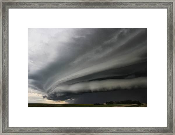 Intense Shelf Cloud Framed Print
