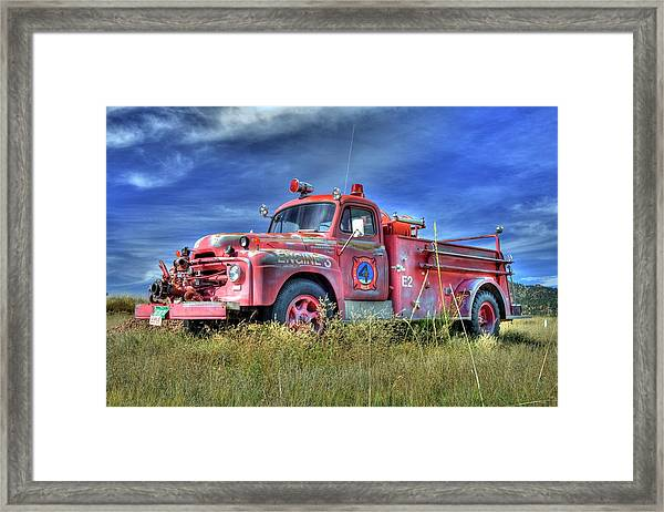 International Fire Truck 2 Framed Print