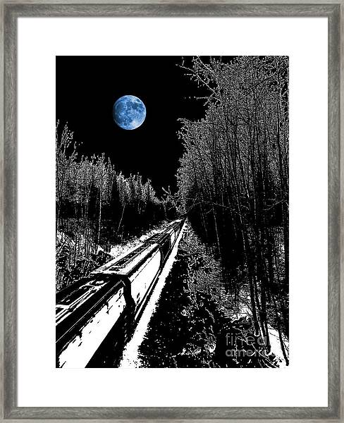 Into The Night Blues Framed Print by The Stone Age