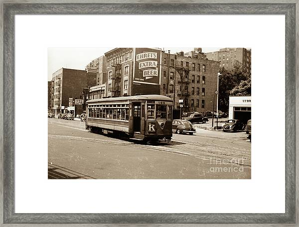 Inwood Trolley Framed Print